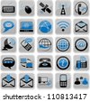 Set of twenty five communication icons - stock vector