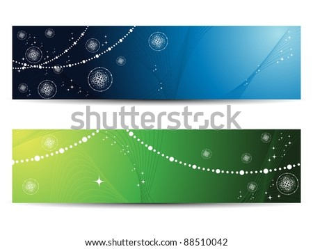 set of two beautiful  banner for new year - stock vector