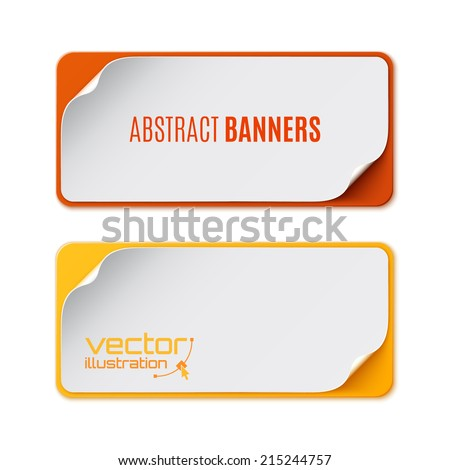 Set of two colorful banners. Vector illustration - stock vector