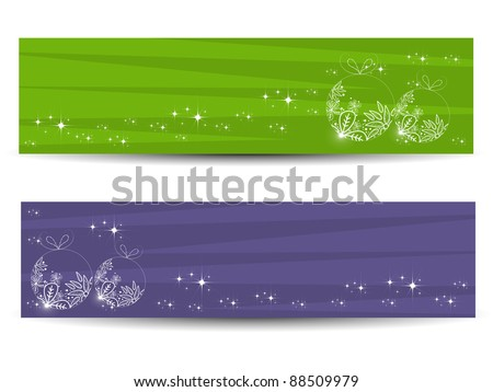 Set of two creative decorative banners or website headers - stock vector