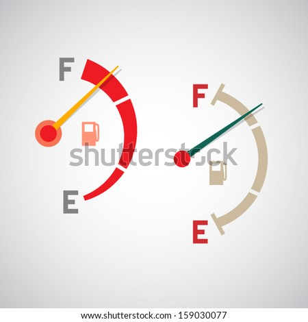set of two gas tank illustrations - stock vector