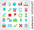 Set of universal icons for web and mobile. Vector illustration. - stock vector