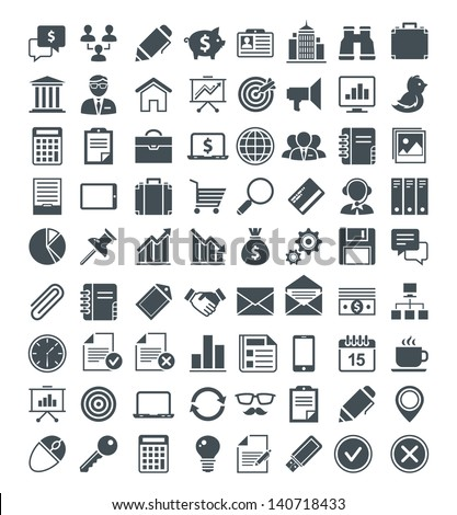Set of useful vector icons. Vector pictograms. Vector signs. - stock vector