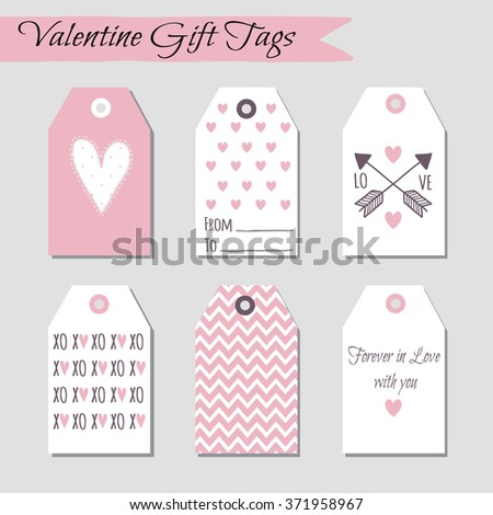 Set of Valentine's Day cards designs. Vector design templates for journal cards, scrapbooking cards, greeting cards, gift cards, patterns, art decoration etc - stock vector