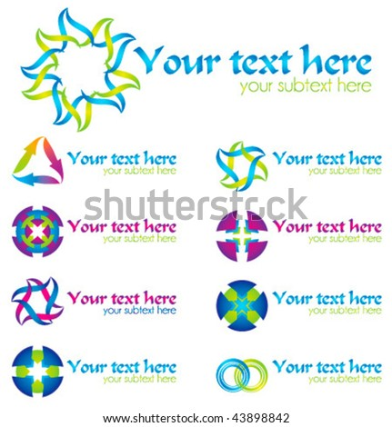 Set of vector design elements for your business artwork - stock vector