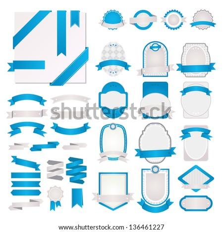 Set of vector design labels - stock vector