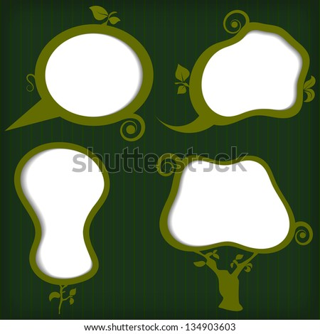 Set of vector eco bubbles - stock vector