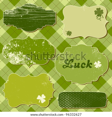 Set of vector frames. St patrick's Day theme. - stock vector