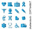 set of vector icons on the medical theme - stock vector