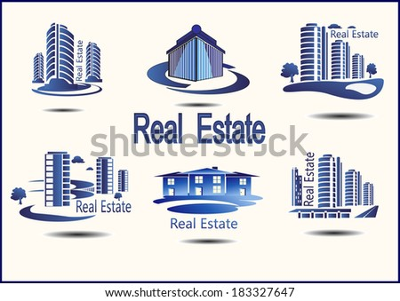 set of vector icons Real Estate - stock vector