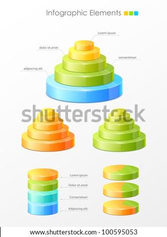 Set of vector infographic elements - stock vector