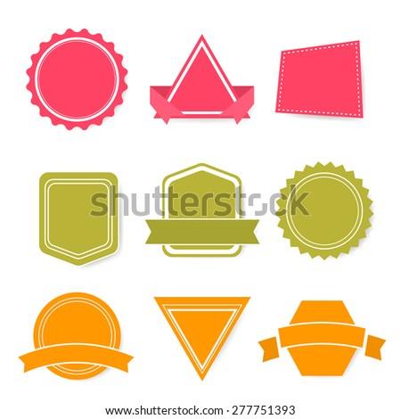 Set of vector labels, EPS10 - stock vector