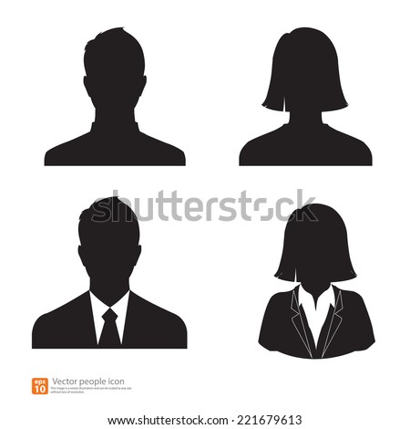 Set of vector men and women with business avatar profile picture - stock vector