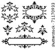 Set of vector ornaments. Perfect for invitations or announcements. - stock vector