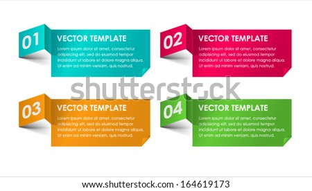 Set of Vector Paper Progress backgrounds. Vector.  - stock vector