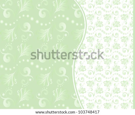 Set of vector seamless floral backgrounds in green tones. eps 8 - stock vector