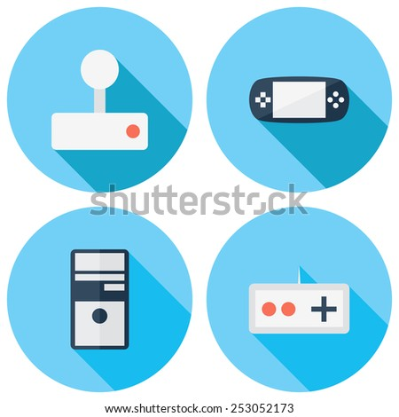 Set of vector technology icons.  Icons for Web and Mobile Application. EPS 10. - stock vector
