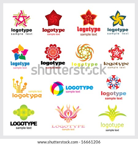 Set of vector trade marks for your company or a site - stock vector