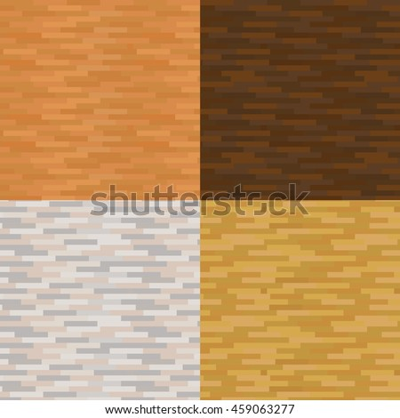 Set of vector wood texture backgrounds, four colors. Vector illustration   - stock vector