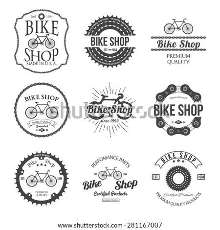 Bicycle Shop Logo Bicycle Shop Logo Badges