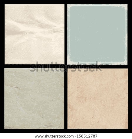 Set of vintage backgrounds/ textures - stock vector