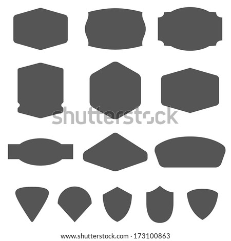 Set of vintage frames for emblems, labels, insignia - stock vector