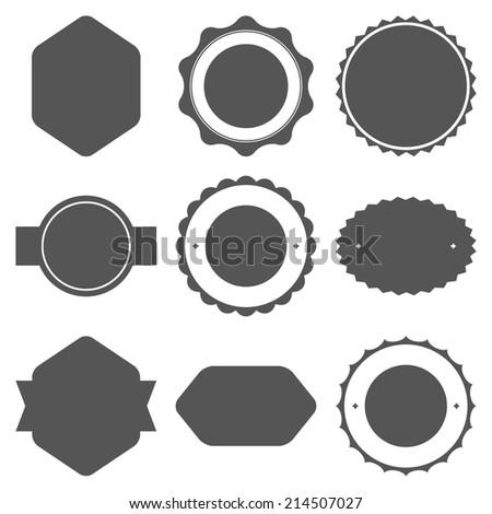 Set of vintage frames for emblems, labels, insignia. Vector illustration - stock vector
