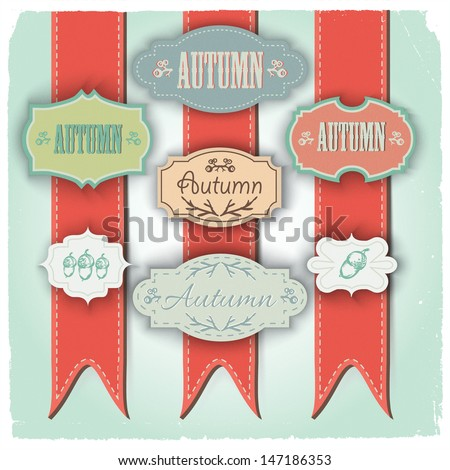 Set of vintage frames. Vector Illustration, eps10, contains transparencies. - stock vector