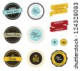 Set of vintage sale labels, badges and stickers - stock vector