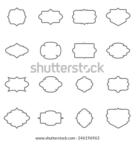 Set of vintage vector badges.  Vector design elements for retro logos, badges, labels. - stock vector