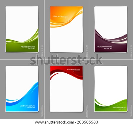 Set of wavy brochures - stock vector
