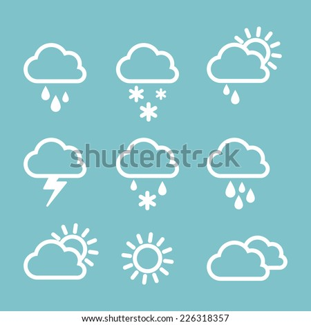 Set of weather icons. - stock vector