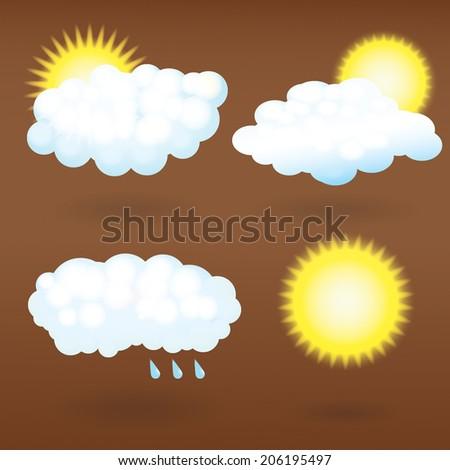 set of weather symbols - stock vector