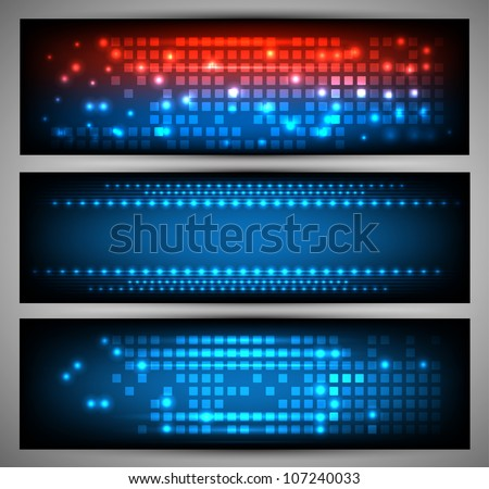Set of web banners. Vector - stock vector