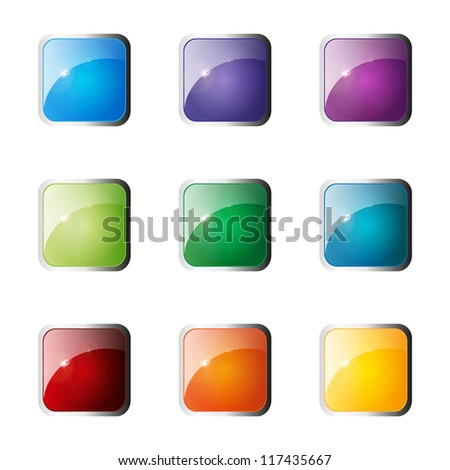 Set Of  Web Color Buttons. Vector illustration. Eps10. - stock vector