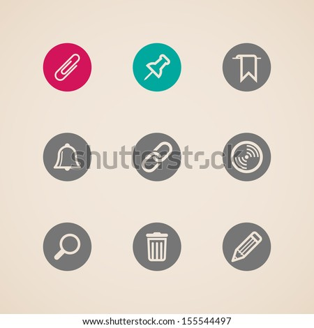 set of web icons - stock vector