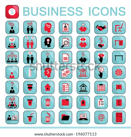 Set of web icons for business, finance, office, communication, human resources. Vector illustration. Part 3 - stock vector