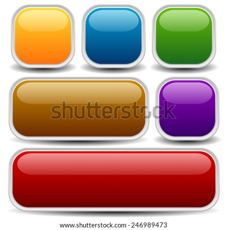 Set of web or print buttons, banners - stock vector