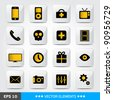 Set of white computer's web icons - stock vector
