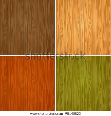 Set of wooden textures.Vector eps10 - stock vector