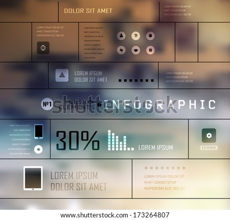 Set shadows elements  of infographics. Modern elements of info graphics. Information Graphics.  Blur, shadows background - stock vector
