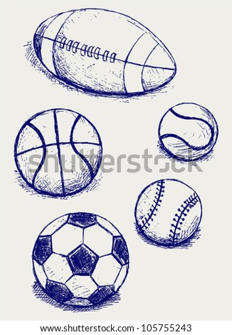 Set sport balls - stock vector