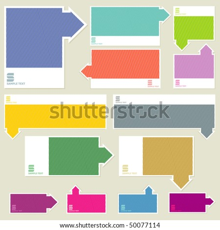 set sticker - stock vector