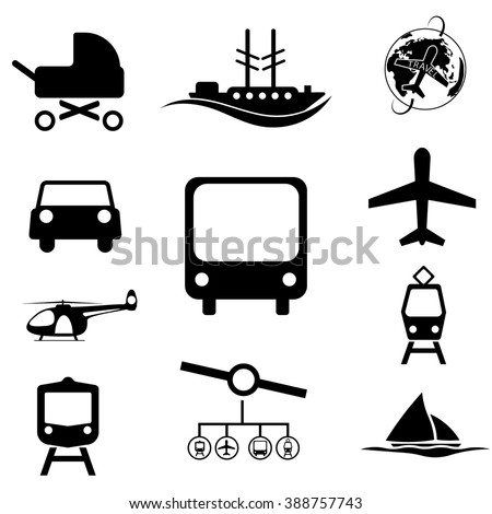 Set transport Icon - stock vector