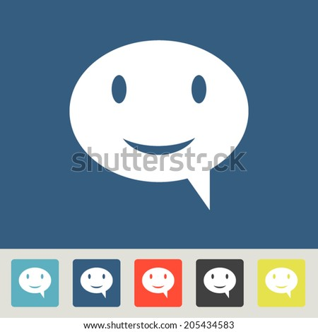 Set vector icons. Flat design style  - stock vector