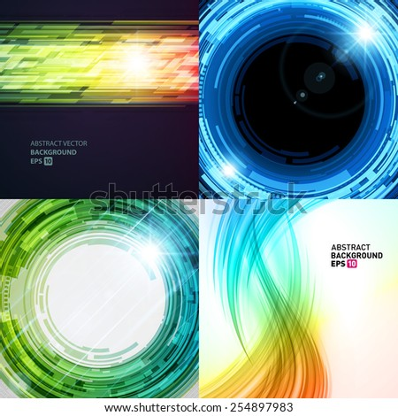 Set vector modern abstract backgrounds design can be use for Business Brochure, Flyer, Website Banners, Corporate Report, Presentation, Advertising templates - stock vector