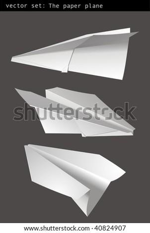 Set vector - paper plane - stock vector