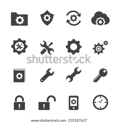 setting icon - stock vector