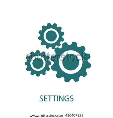 settings icon  - stock vector
