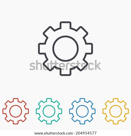 Settings icon ,Vector illustration  - stock vector
